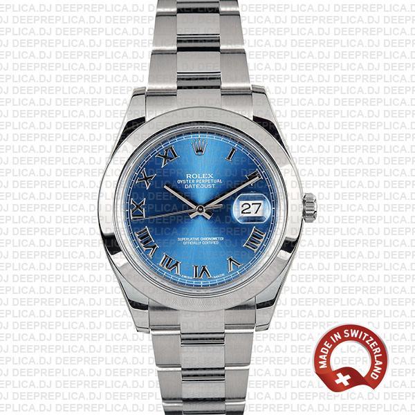 Rolex Datejust II Blue Dial Steel 41mm 116300   Rolex Replica