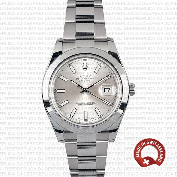 Rolex Datejust II Silver Dial 41mm | Best Swiss Replica Watch