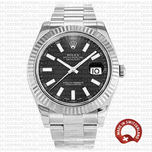 Rolex Datejust ΙΙ Black Dial   High Quality Swiss Replica Watch