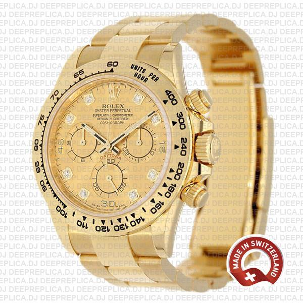 Rolex Daytona 40mm Diamond Gold Dial | Rolex Replica Watch