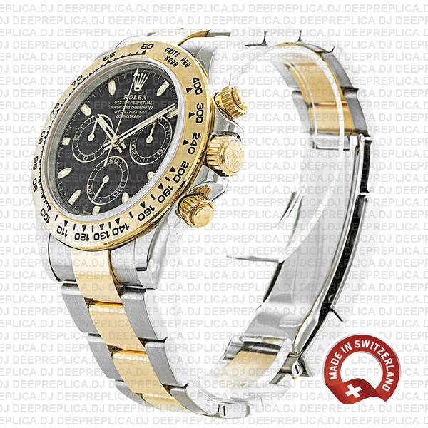Rolex Daytona 18k Yellow Gold Two-Tone, 904L Steel Black Dial