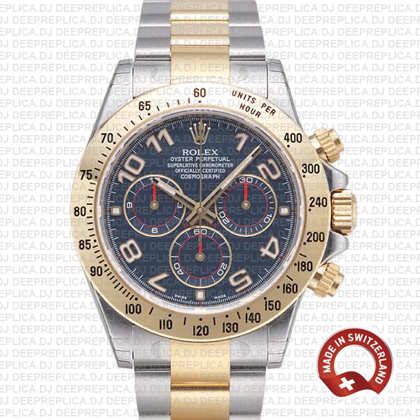 Rolex Daytona Two-Tone Blue Arabic Dial | Best Clone Watch