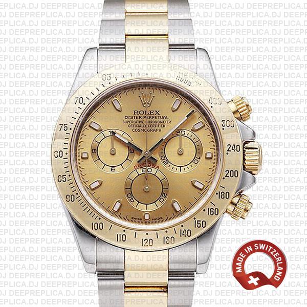 Rolex Daytona Gold Two-Tone Gold Dial Swiss Replica Watch
