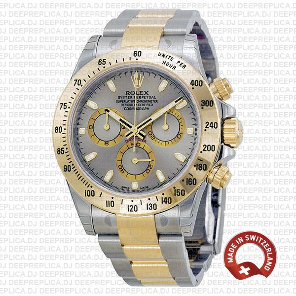 Rolex Daytona 2 Tone Grey Slate 40mm 116523