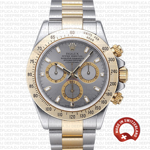 High Quality Rolex Replica Daytona Two-Tone Grey Dial Watch