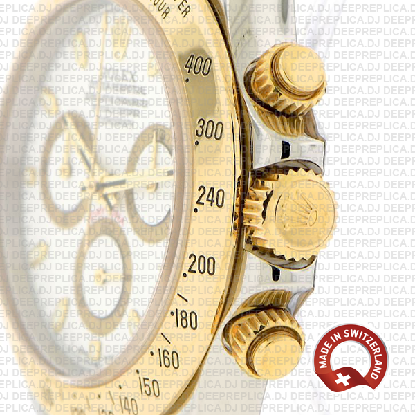 Rolex Daytona Two-Tone 18k Yellow Gold Best Replica Watch