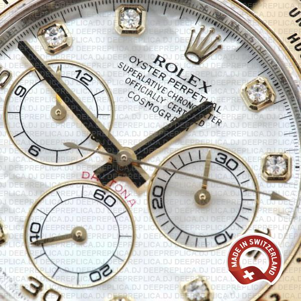 High Quality Rolex Cosmograph Daytona Two-Tone Gold 904L Steel White Dial