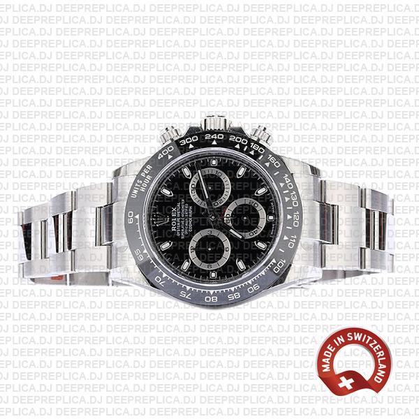 Rolex Daytona 2016 Ss Black Ceramic Bezel 116500 40mm Replica