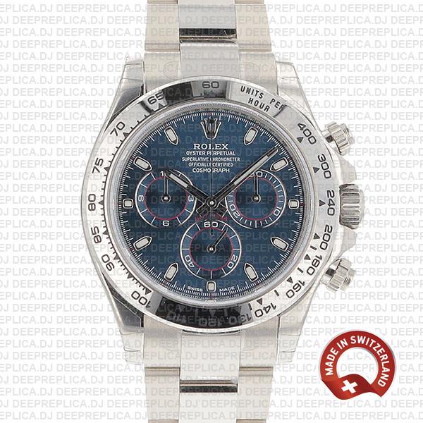 Rolex Daytona White Gold Blue Dial | Best Rolex Replica Watch
