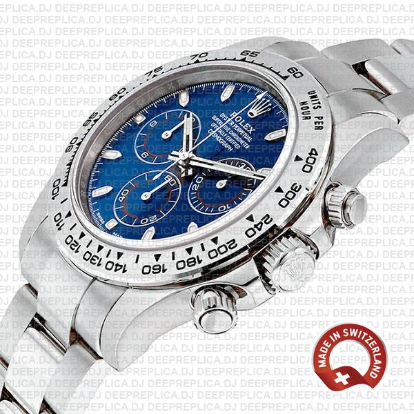 Rolex Daytona White Gold Blue Dial Best Rolex Replica Watch