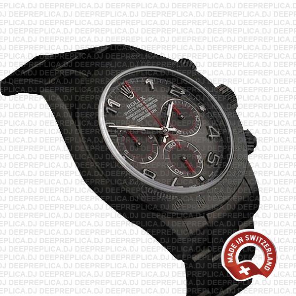 Rolex Daytona DLC Black Arabic Dial 904L Steel with DLC Coated Oyster Bracelet Swiss Replica Watch