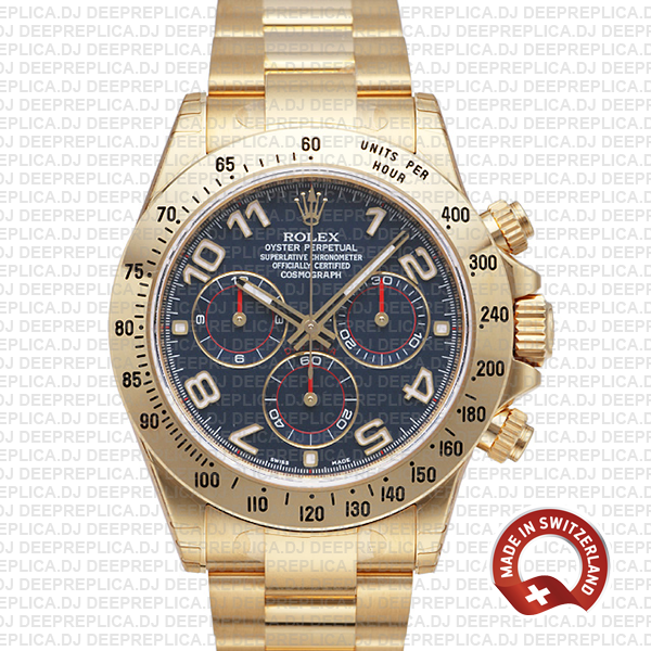 Rolex Daytona Blue Arabic Dial | Swiss Made Replica Watch