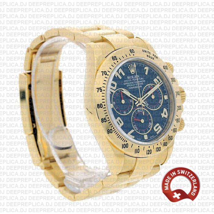Rolex Daytona Blue Arabic Dial Swiss Made Replica Watch