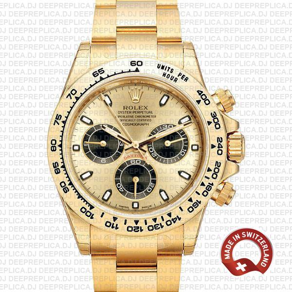 Rolex Daytona Gold Dial Stainless Steel | Best Replica Watch
