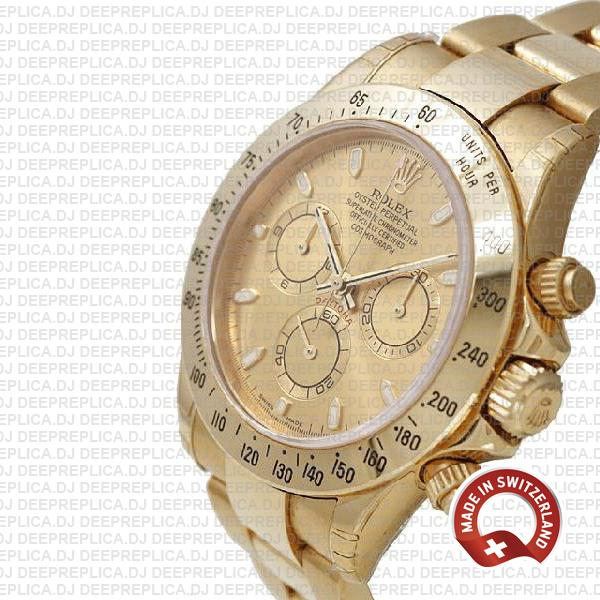 Rolex Daytona Yellow Gold Dial High Quality Replica Watch