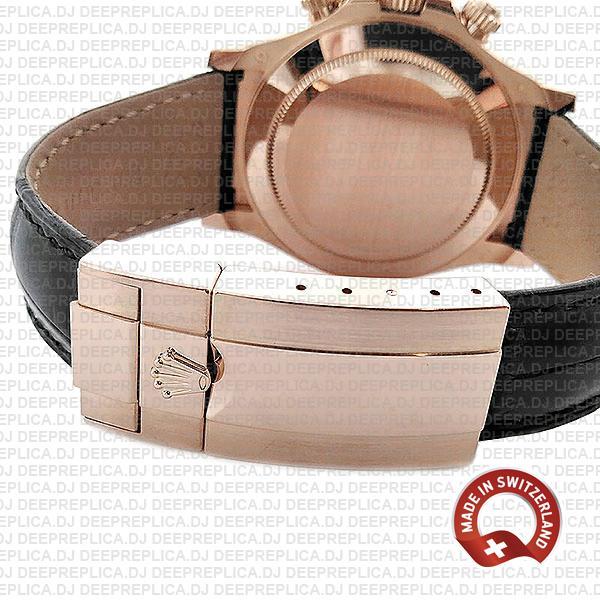 Rolex Daytona Leather Rose Gold Ceramic 40mm 116515