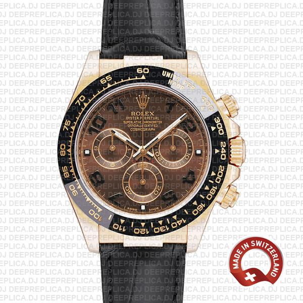 Rolex Daytona Rose Gold Brown Dial Rolex Replica Watch