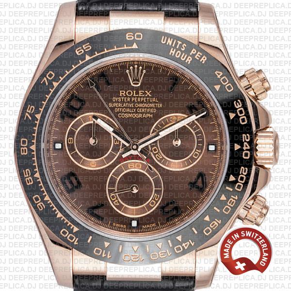 Rolex Cosmograph Daytona 18k Rose Gold, Brown Arabic Dial 40mm