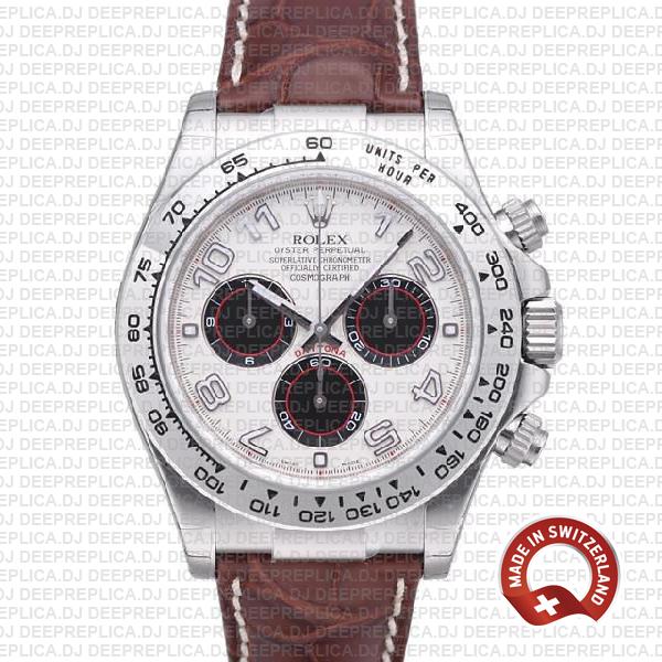Rolex Daytona Leather Ss White Gold White 40mm 116519