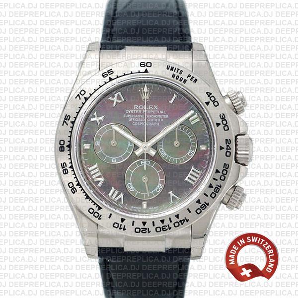 Rolex Daytona Black MOP Roman Dial | Swiss Replica Watch