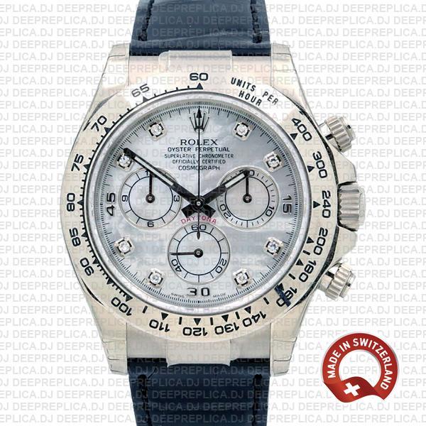 Rolex Daytona White Gold White Diamond Dial | Replica Watch