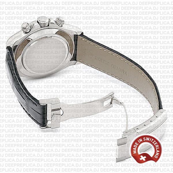 Rolex Daytona Leather White Gold Swiss Replica 40mm