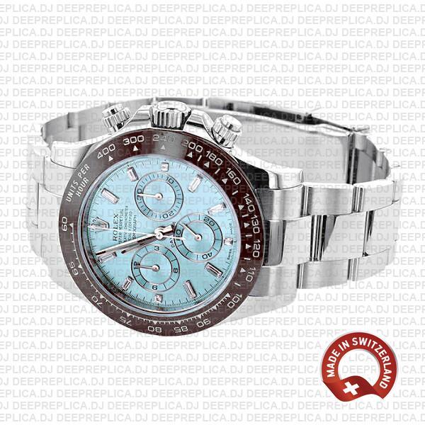 Best Rolex Daytona 40mm Ice Blue Dial Swiss Replica Watch