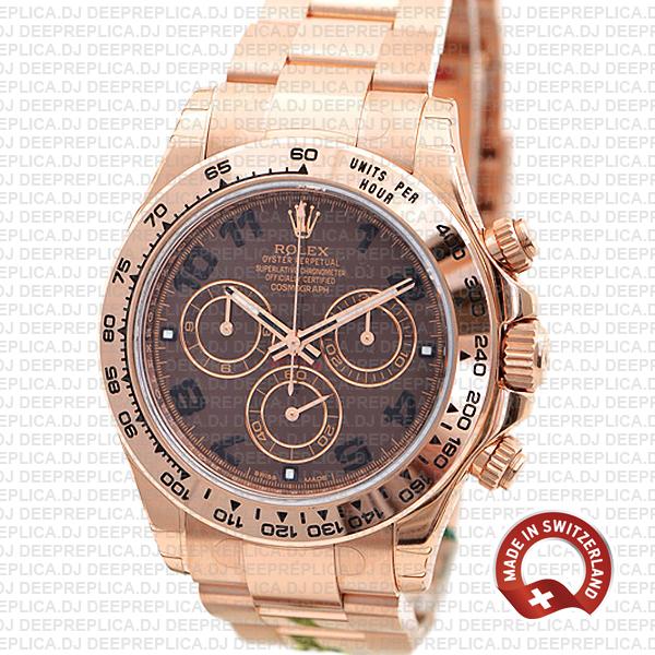 High Quality Rolex Daytona Rose Gold Chocolate Dial Replica