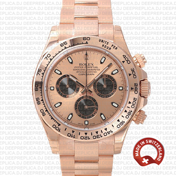 Best Rolex Daytona Rose Gold Dial 40mm | Rolex Fake Watch