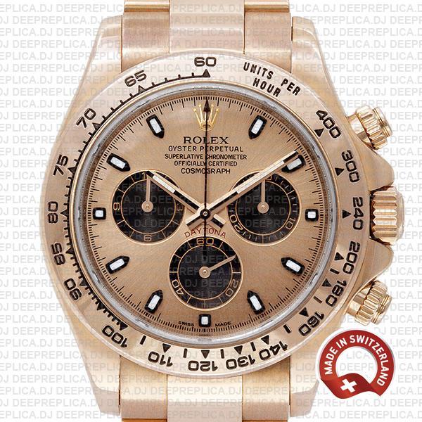 Best Rolex Daytona Rose Gold Dial 40mm Rolex Fake Watch