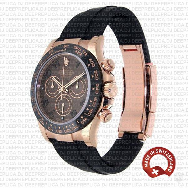 Rolex Daytona Rubber Rose Gold Chocolate Ceramic 40mm 116515ln