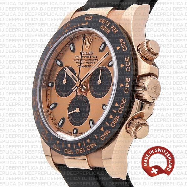 Rolex Cosmograph Daytona 18k Rose Gold, 904L Stainless Steel Replica Watch 40mm Replica