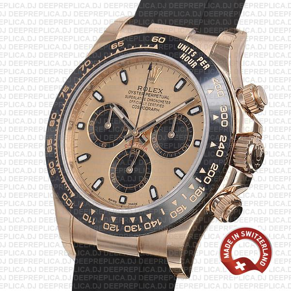 Rolex Cosmograph Daytona 18k Rose Gold, 904L Stainless Steel Replica Watch 40mm Replica Watch