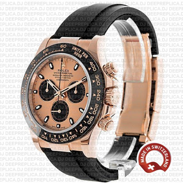 Rolex Cosmograph Daytona 18k Rose Gold, 904L Stainless Steel Replica Watch 40mm
