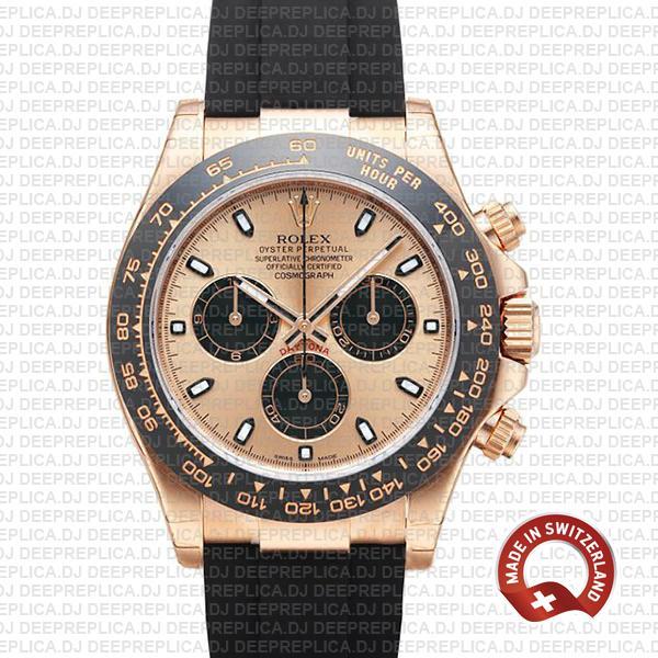 Best Rolex Daytona Rose Gold Pink Dial   Swiss Replica Watch