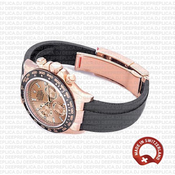 Rolex Cosmograph Daytona 18k Rose Gold 904L Steel Pink Dial