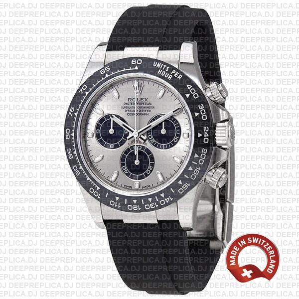 Rolex Daytona 18k White Gold Silver Dial Swiss Replica Watch