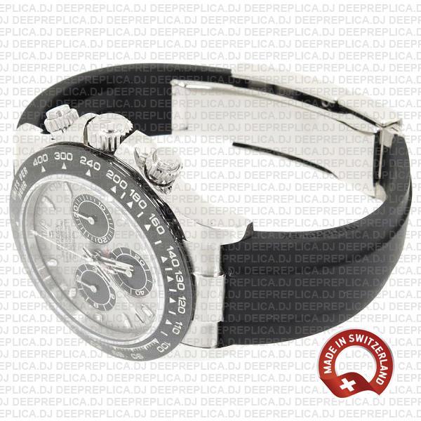 Rolex Daytona Rubber White Gold Silver Dial Ceramic Bezel 40mm 116519ln