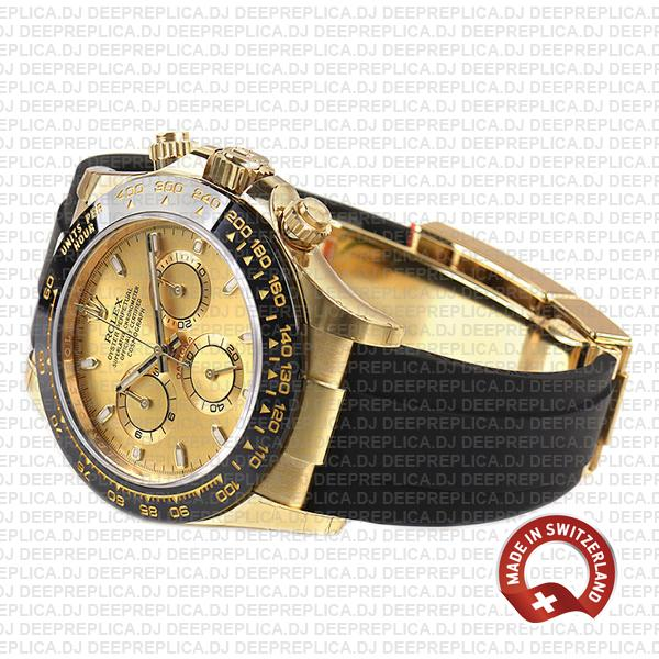 Rolex Oyster Perpetual Cosmograph Daytona 18k Yellow Gold 40mm Ceramic Bezel Gold Dial
