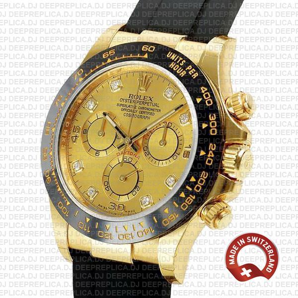 Rolex Daytona Gold Diamond Dial 40mm Luxury Replica Watch