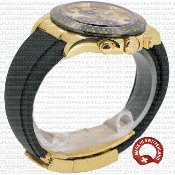 Rolex Cosmograph Daytona 18k Yellow Gold 904L Steel Gold Panda Dial Stick Markers