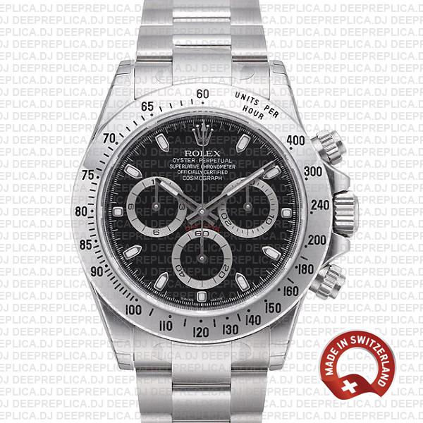 Rolex Daytona 18k White Gold Black Dial | Swiss Replica Watch