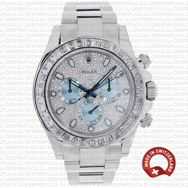 Best Rolex Daytona Platinum Replica Stainless Steel Watch