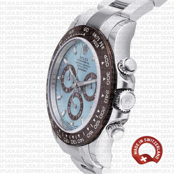 Rolex Cosmograph Daytona 904L Steel Ice Blue Dial Ceramic Bezel 950 Platinum 40mm Oyster Bracelet Stainless Steel