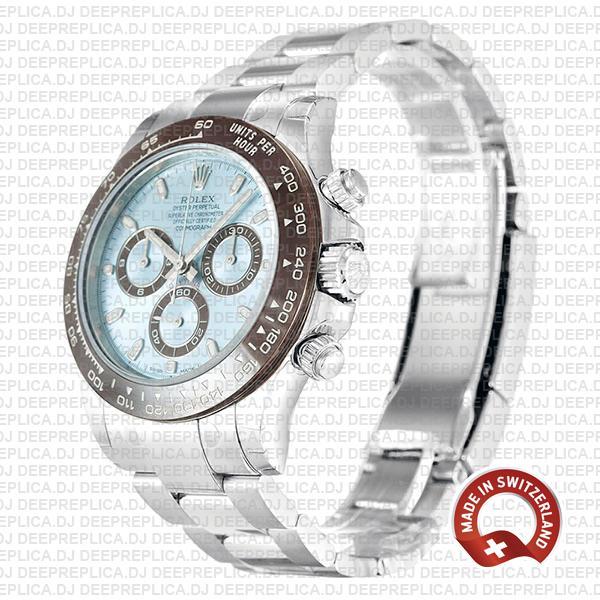 Rolex Daytona Platinum Ice Blue Dial 40mm Replica Watch
