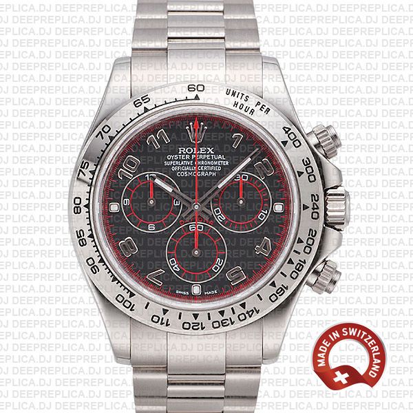 Rolex Daytona Black Arabic Dial High Quality Replica Watch