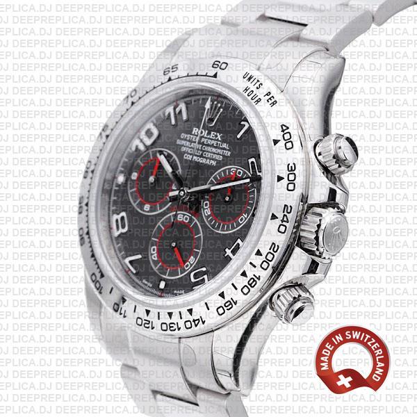 Rolex Daytona 18k White Gold Grey Arabic Dial | Deep Replica