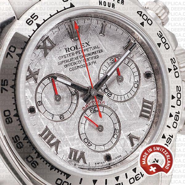 Rolex Daytona White Gold Meteorite Dial Deep Replica Watch
