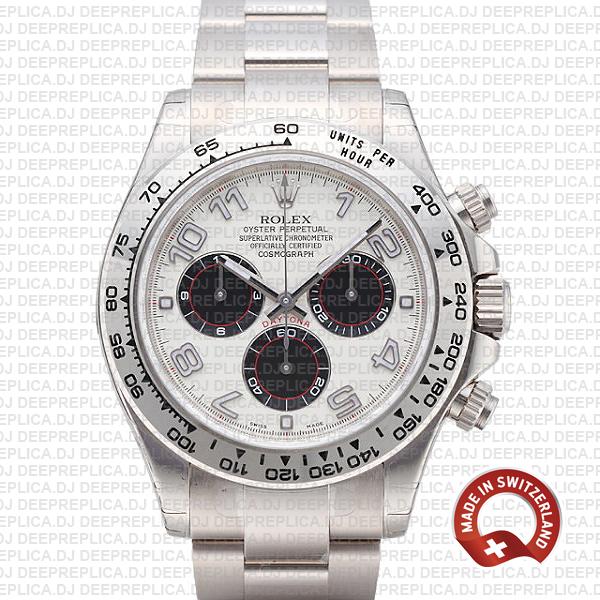 Best Clone Rolex Daytona Stainless Steel White Dial Watch