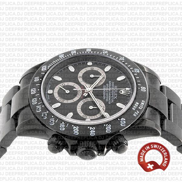 Rolex Daytona DLC Steel Black Dial 40mm Top Replica Watch